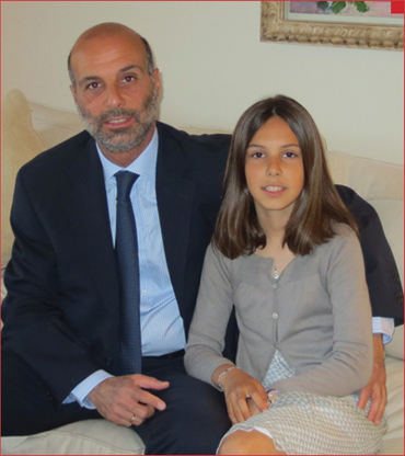 Luis Montesinos Ballesteros with his daughter Sofia