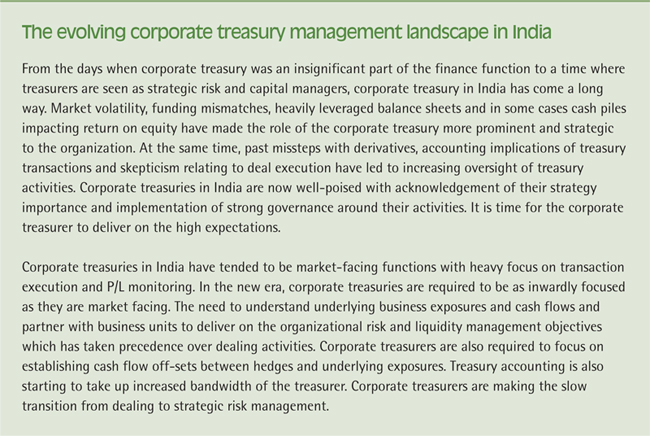 Evolving role of corporate treasury management landscape in India